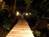 Walkway with night lights